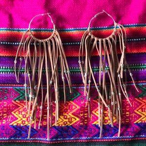 Draping earrings